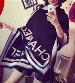 【Burberry Gucci Chanel】各名牌圍巾 披肩:Chanel圍巾披肩尺寸190x70