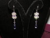 新娘飾品:新娘飾品2-施華洛世奇耳環