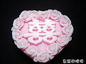囍字皂模:玫瑰囍(一模3穴)