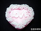 囍字皂模:玫瑰LOVE(一模3穴)