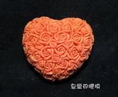 土司模與皂盤:玫瑰心(3)連模-小