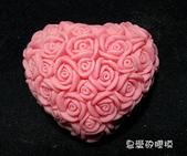 土司模與皂盤:玫瑰心(3)連模-中