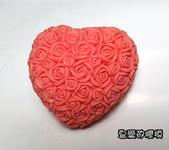 土司模與皂盤:玫瑰心(3)連模-大