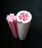 花與葉管模:愛心幸運草(可切成4個小愛心直徑1.5公分)