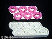 囍字皂模:玫瑰心環(6)連模