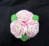 皂模成品:3朵花