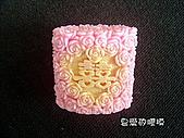 囍字皂模:3D玫瑰囍