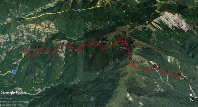 能高越嶺道全段縱走二日行(第一天)20200330:屯原登山口、天池山莊、光被八表、檜林保線所圖.jpg