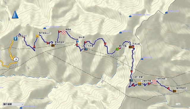 屯原登山口、天池山莊、光被八表、檜林保線所圖片.png - 能高越嶺道全段縱走二日行(第一天)20200330