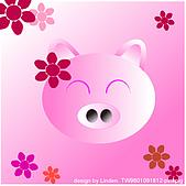 Illustrator:pink pig.