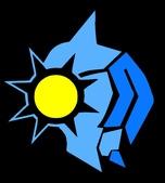 X 設計 V Logo:騎士-色塊