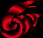 X 設計 V Logo:紅光炫
