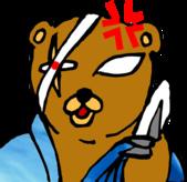 X 塗鴉 V 表情圖示:大和-生氣講電話