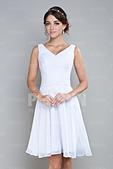 stars:robe de cocktail courte blanche bustier drapéà.jpg