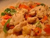 豆皮餐點:椰雞飯