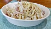 中式魚類料理:茭白筍絲炒透抽