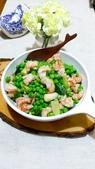 中式魚類料理:甜豆仁炒蝦仁