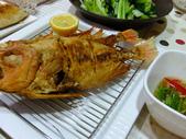 南洋魚類料理:酥炸大眼鯛佐泰味醬汁與酸蝦湯 (8)