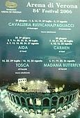 深入北義大利:2006節目表