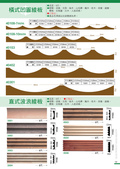 100年佳品木業綜合目錄:P13.橫、直式波浪板