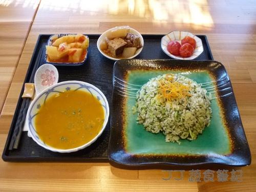 映月山房-翡翠炒飯定食 JJ.JPG - 中部蔬食