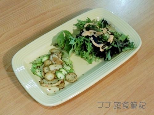 Loving Hut-Pan-Fried Shroom & Asparagus Cum Salad JJ.JPG - 其他