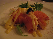若亞方舟的晚餐:前菜--雞蛋鮭魚捲