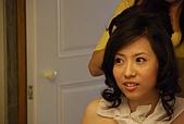2008 June - M & J's wedding:開始做髮型!