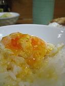 2008 Aug-30 東京蜜月 day 2:unair把半熟的蛋黃扮到飯上,看起來一整各美味