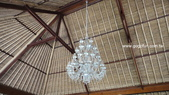 [飯店] Komaneka Rasa Sayang_Ubud區:Komaneka Rasa Sayang 餐廳水晶吊燈