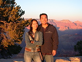 大峽谷之旅09/22/06:老公.........好美的夕陽