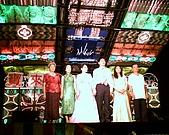 hinet*寶來KTV舞台車燈光音響*的相簿:雙方主婚人和新人上台敬酒答謝親友