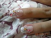 2008.1.11嫁人了....:貼上去的指甲彩繪