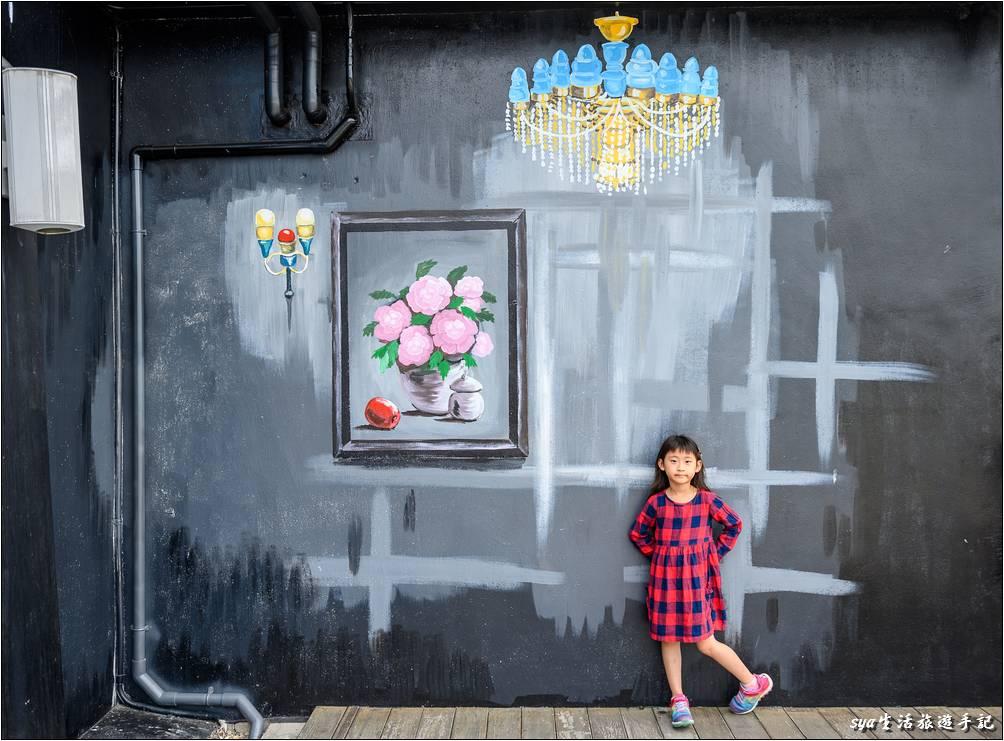 北門遊客中心外面四周有許多彩繪牆面可供拍照、留影,這也是來到北門不可錯過的拍照行程。