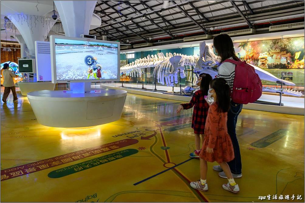 北門遊客中心互動式的多媒體展區