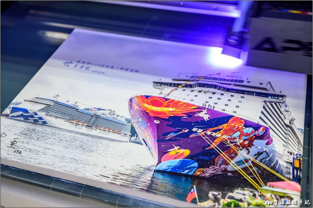 無框畫噴印完成-客製化商品