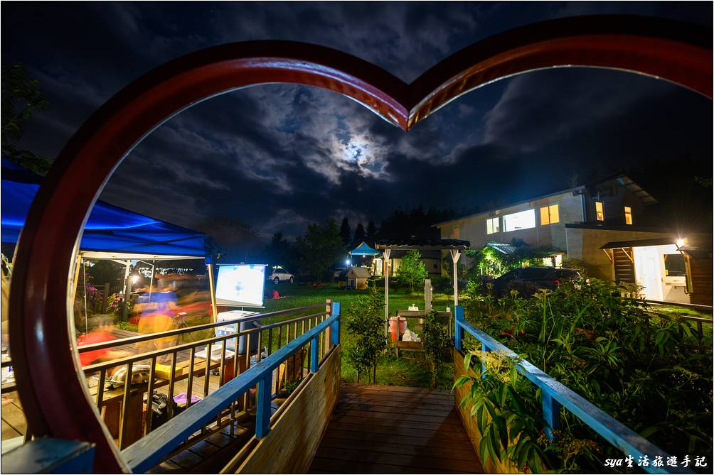 天闊台的賞月夜景