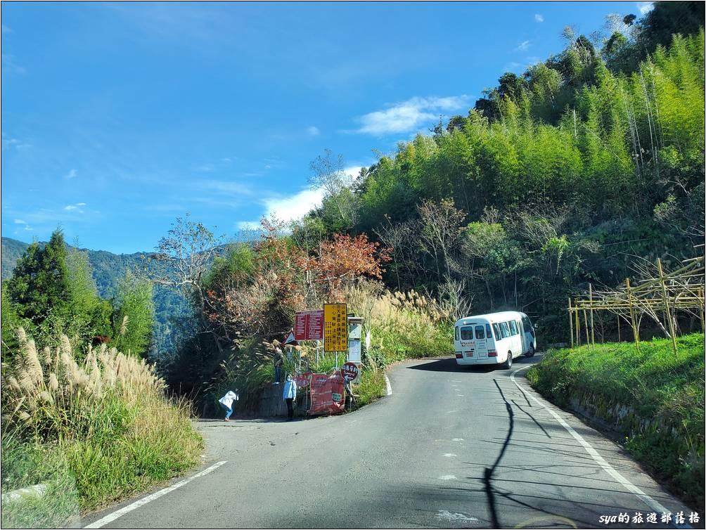 泰崗道路轉司馬庫斯產業道路的路口 (要左轉)