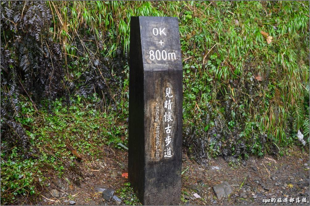 步道的800公尺處接近二號吊橋的位置