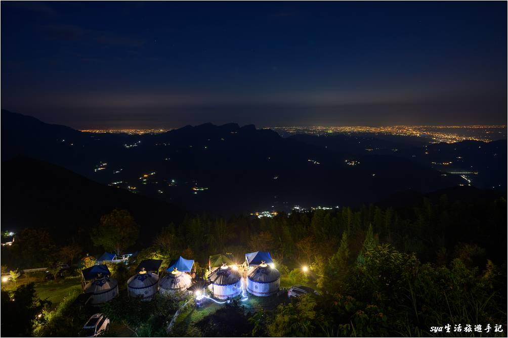 從營區可以清楚的欣賞到新竹與竹南的夜景