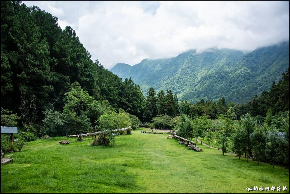 森林城堡前的大草皮