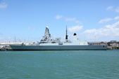 英國(6)軍武之旅(1):普茲茅斯港 , Portsmouth Harbour:0580.jpg ( Type 45 destroyer )
