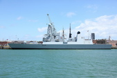 英國(6)軍武之旅(1):普茲茅斯港 , Portsmouth Harbour:0581.jpg ( Type 45 destroyer )