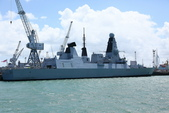 英國(6)軍武之旅(1):普茲茅斯港 , Portsmouth Harbour:0577.jpg ( Type 45 destroyer )