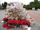 :善化車站裝飾到一半的聖誕樹