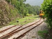 2011馬武督內灣之旅(9/3):剛駛離內灣車站的火車