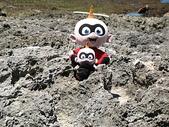 2008暑假墾丁之旅(8/24~8/26):大寶小寶於鵝鑾鼻公園礁岩海岸