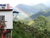 2007中秋南投之旅(9/22~9/25):往清境農場路上所見彩虹