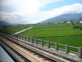 2010初秋花東之旅(9/24~9/26):自強號1051車次(往池上)沿途稻田風光