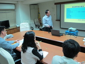 20141103韓國FKCU來訪:圖02戴秘書長進行簡報說明我國勞動狀況及全產總組織架構.JPG